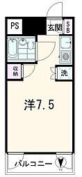 東京都品川区南品川4丁目の賃貸マンションの間取り