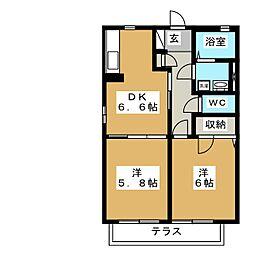フォレストビレッジ B[1階]の間取り