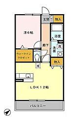 神奈川県横浜市都筑区東山田4丁目の賃貸アパートの間取り