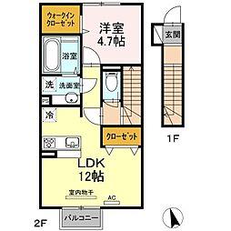 仮)D-room葛原[2階]の間取り