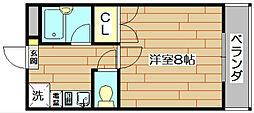 さつきハイム[3階]の間取り