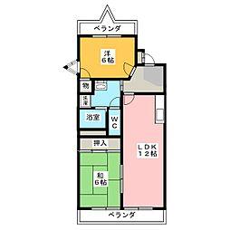 メゾンドボヌ−上名古屋[4階]の間取り