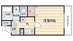 リュース中川[2階]の間取り