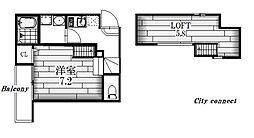 シティハウス本陣[1階]の間取り