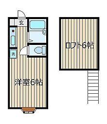 ミヤハウス2号棟[106号室]の間取り