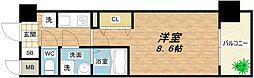 ドゥーエ森ノ宮[6階]の間取り