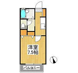 サンクチュアリー久留米V[2階]の間取り