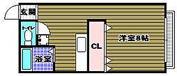 クローバーハウス[1階]の間取り