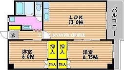 岡山県岡山市南区芳泉4丁目の賃貸マンションの間取り