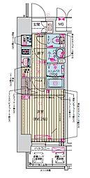Osaka Metro堺筋線 天神橋筋六丁目駅 徒歩7分の賃貸マンション 4階1Kの間取り