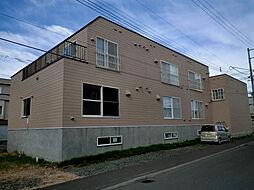 北海道札幌市東区東苗穂十一条2丁目の賃貸アパートの外観