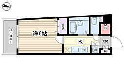 プレールドゥーク文京本駒込[806号室]の間取り