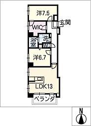 ラパン烏森[1階]の間取り