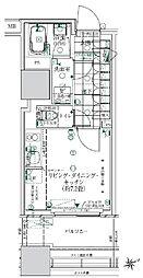 ローレルタワールネ浜松町 4階ワンルームの間取り