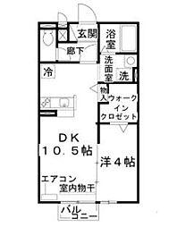 セジュールNOZAKI[2階]の間取り