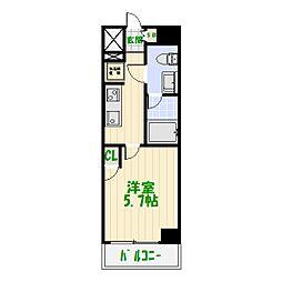 東京都葛飾区堀切1の賃貸マンションの間取り