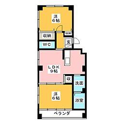 メゾンT&Y[2階]の間取り