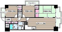 北梅田パーク・レジデンス[4階]の間取り