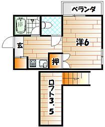 メゾンド・ミュッセ B棟[2階]の間取り
