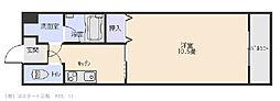 アップウェル中央[506号室]の間取り