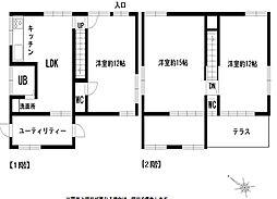 [一戸建] 茨城県神栖市矢田部 の賃貸【/】の間取り