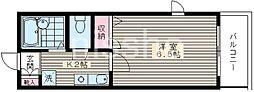 172−アモーレ富士見台[3階]の間取り