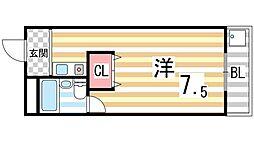 冨田マンション[201号室]の間取り