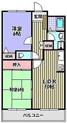 グレースコート[1階]の間取り