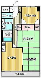 ラポール菜の花館[B401号室]の間取り