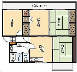 第2高橋マンション[305号室]の間取り