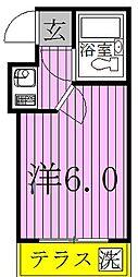 千葉県柏市富里3丁目の賃貸アパートの間取り