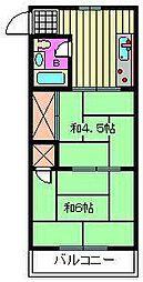 トシユキマンション[302号室]の間取り