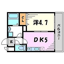 パークステージ夙川[3階]の間取り