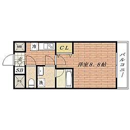 彩都シオン[3階]の間取り