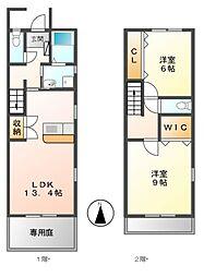 [テラスハウス] 愛知県名古屋市中川区伏屋5丁目 の賃貸【/】の間取り