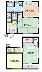 [テラスハウス] 神奈川県茅ヶ崎市赤羽根 の賃貸【/】の間取り