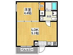 レジーナファースト[3階]の間取り