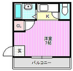 高千穂第2マンション[5階]の間取り