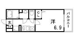 兵庫県神戸市灘区神ノ木通2丁目の賃貸マンションの間取り