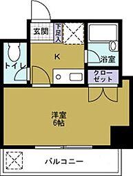 マンション弥栄[4階]の間取り