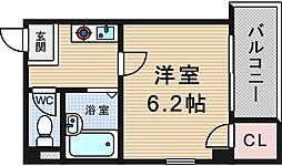 大阪府大阪市西区北堀江3丁目の賃貸マンションの間取り