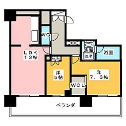 マークス・アネシスタワー草薙[17階]の間取り