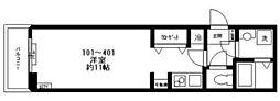 都営三田線 西巣鴨駅 徒歩2分の賃貸マンション 1階ワンルームの間取り