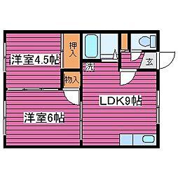 北海道札幌市北区篠路一条5丁目の賃貸アパートの間取り