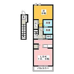 アーコンシェル B[2階]の間取り