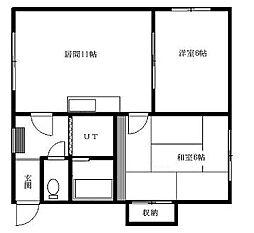 北海道札幌市清田区真栄三条2丁目の賃貸マンションの間取り