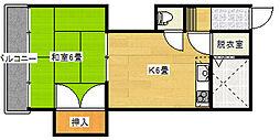 アルビヨン東栄町[2階]の間取り
