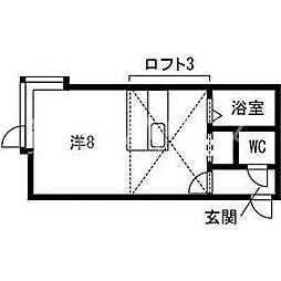 ラフォーレ弐番館[1階]の間取り