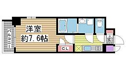エスプレイス神戸ウエストモンターニュ[8階]の間取り