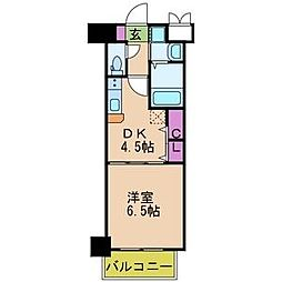 プレジオ中之島[9階]の間取り